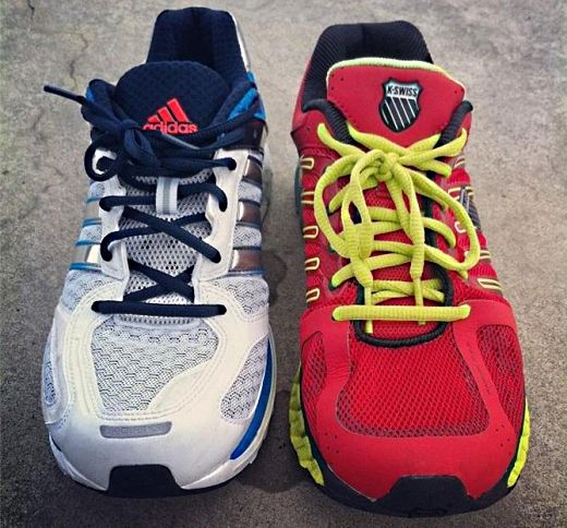 K-Swiss Blade Max Stable Vs Adidas Supernova Sequence 5 - Upper