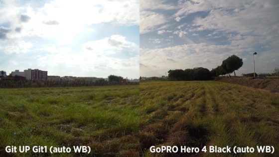 Git UP Git 1 VS GoPro Hero 4 - Auto WB